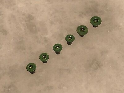 Green Replacement Scale & Pivot Screws for Spyderco Paramilitary 2 - Set of 6