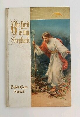Antique Religious Book The Lord is My Shepherd Bible Psalm 23 Ernest Nister RARE
