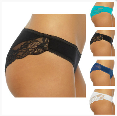 LADIES BRAZILIAN BRIEFS 1 PAIR - Anucci - 95% Cotton - Pants Panties Knickers