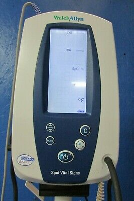 Welch Allyn Spot Vital Signs Monitor 42NTB complete with cart
