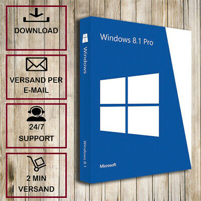MS Windows 8.1 Pro ✓ Professional ✓ 32/64 Bit ✓ 2 Minuten Versand ✓ Lizenzkey ✓