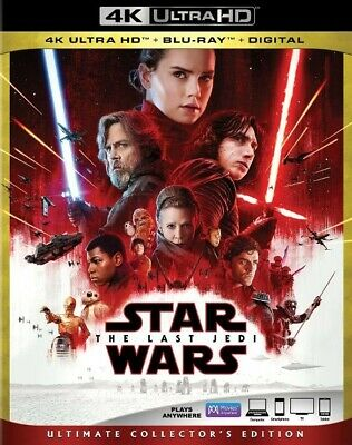 Star Wars The Last Jedi (4k UHD w/ Case + Slipcover, 2017) Disney Lucas Films