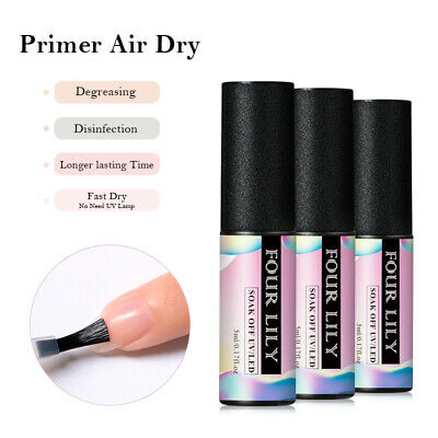 FOUR LILY Nail Primer/Matte Top Coat / Base Coat Gel Polish Soak Off UV/LED 5ml