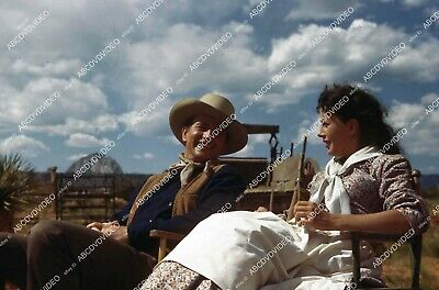 35m-17156 candid John Wayne Gail Russell on location film Angel and the Badman 3