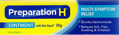 Canadian PREPARATION H Ointment Bio Dyne Multi Symptom Relief 25g Fresh Exp 4/21