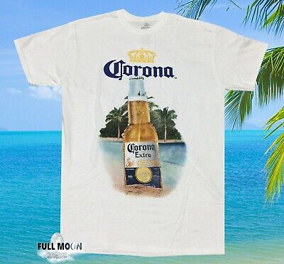 New Corona Extra Beer Beach Bottle Palm Trees Men's Vintage T-Shirt