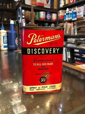 Peterman's Discovery Insecticide Pt Can Vintage