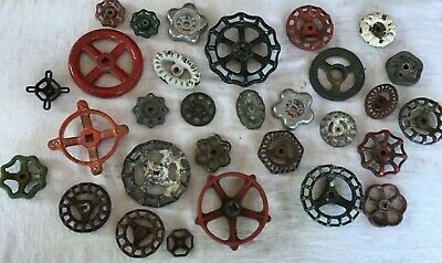 30 Vintage Valve Handles Faucet UNIQUE STEAMPUNK Industrial Lot THIRTY SM & LRG