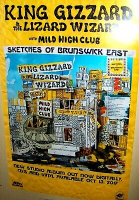KING GIZZARD And The LIZARD WIZARD Original Promo Poster Sketches Of Brunswick