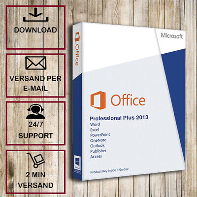Office 2013 Pro Plus ✓ Professional Plus✓32/64 Bit ✓2 Minuten Versand ✓Lizenzkey