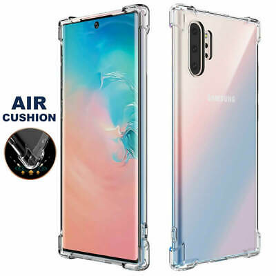 Crystal Clear Shockproof Bumper Soft Case Cover For Samsung Galaxy Note 10+ Plus