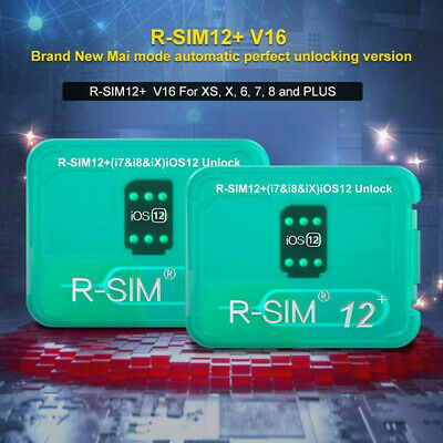 R-SIM12+V16 Nano Unlock Card RSIM Mai for iPhone XS/X/8/7/6 Plus 4G iOS 12.2 Lot