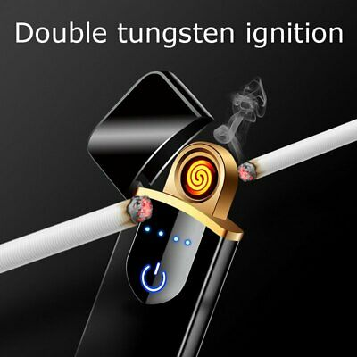 Hot Electric Lighter Usb Rechargable Windproof Finger Print Gentle Touch  Uu