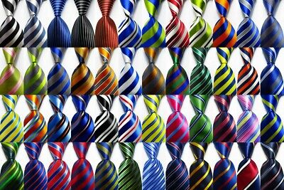 New Classic Ties Striped JACQUARD WOVEN 100% Silk Men's Tie Necktie