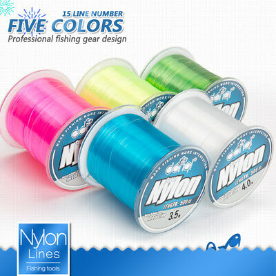 500M 2LB-22LB Nylon Fishing Line Strong Extreme SuperPower Abrasion Resistant