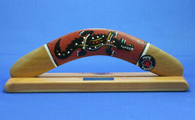 Boomerang - Aboriginal Artwork Hand Crafted & Hand Painted -Crocodile-