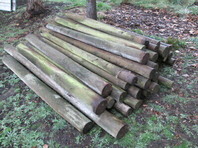 Large Quantity of Treated Pine posts Used.