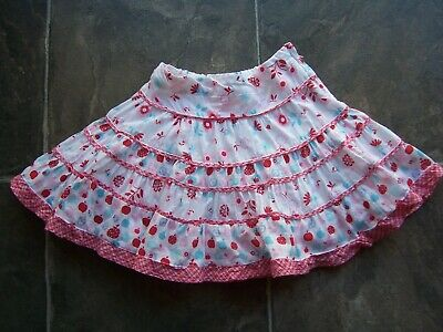 Girl's Pumpkin Patch Floral Frilly Cotton Skirt Size 2 VGUC