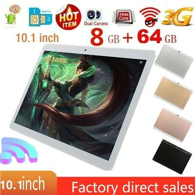 """10.1"""" Inch Tablet PC HD Android 8.0 8G+64G Octa-Core Google WIFI Dual Camera GPS"""