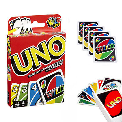 UNO ORIGINAL Card Game with Customize Wild Cards + Extras AUS STOCK Kids Family