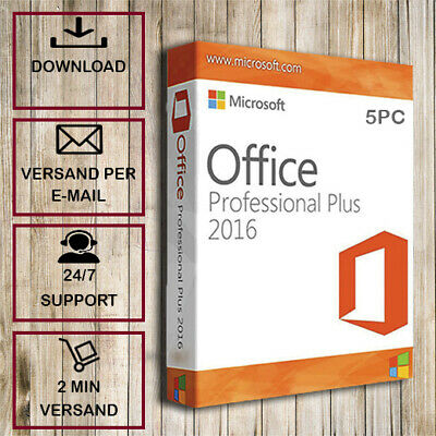 Office 2016 Pro Plus ✓ Professional Plus ✓1-5PC ✓32/64 Bit ✓ESD per E-Mail