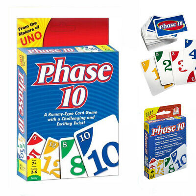 PHASE 10 CARD GAME similar to UNO Mattel 7+ Years Kids Family Brand New Fun AUS
