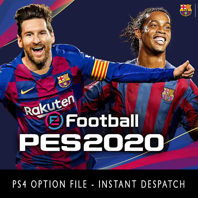 PRO EVO eFOOTBALL PES 2020 PS4 OPTION FILE - ALL TEAMS KITS ETC - FREE UPDATES