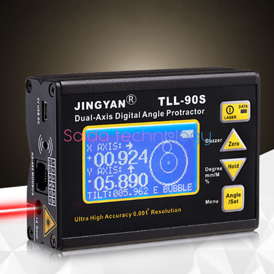 TLL-90S Digital Laser Level Protractor Angle Finder Meter High accuracy 0.005°