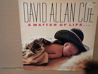 David Allan Coe - A Matter Of Life And Death - Vinyl Lp - 1987 - Play Tested