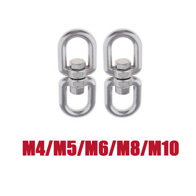 2x Stainless Steel Swivel Shackle Ring Adapter Rotator Sturdy for Hammock