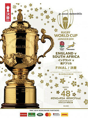 Programme : Rugby World Cup Final - 02 November 2019 - Mint Condition.