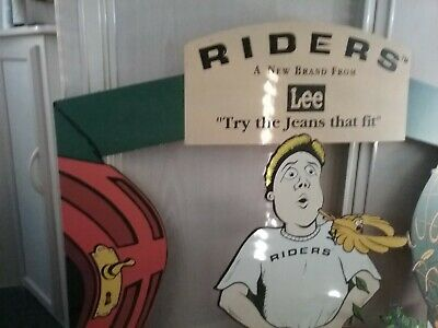 LEE JEANS COLLECTABLE ADVERTISING 1970s shop display, ex cond sign