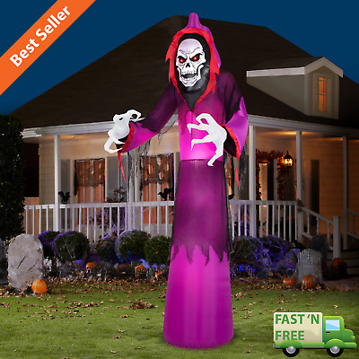 12 ft. Airblown Halloween Grim Reaper Outdoor Scary Yard Inflatable Decoration