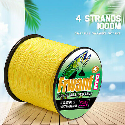 Super Strong Japanese PE Braided Fishing Line 1000M Multifilament Blue 6-100LBS