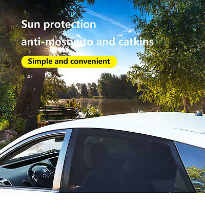 2pcs Car Window Sun Shades Mesh Cover Baby Pet UV Protector Visor Shield Curtain