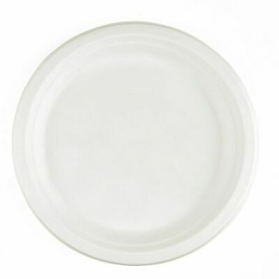 Strong Compostable Eco Friendly Biodegradable White Sugarcane Bagasse Plates