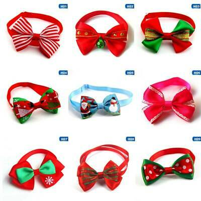 2x Cute Christmas Dog Cat Pet Puppy Bow knot Necktie Collar Bow Tie Clothes Hot