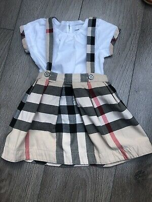 Girls Burberry Skirt And Top