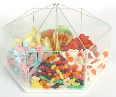 Pick N Mix Food Dispenser Rotating Sweet Gifts Soap Container Bin Sweets OW9702