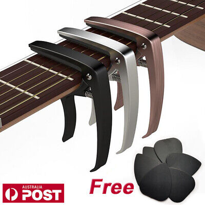 Quick Change Clamp Meideal Guitar Capo for Acoustic Electric Guitars Free Picks