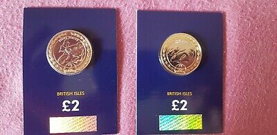 2019 Isle Of Man Tt Race Steve Hislop £2 Pound Bu Duo Coin Set Just Released
