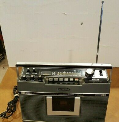 Vintage Panasonic RS-460S AM/FM Stereo Cassette Recorder Tested