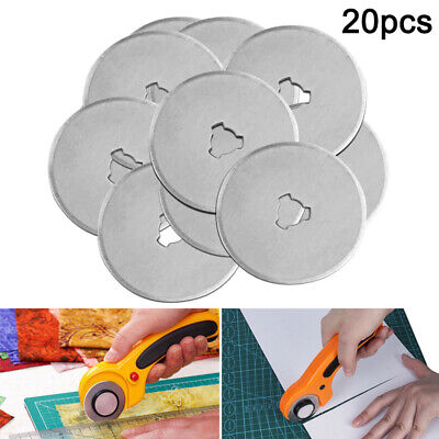 20Pcs Rotary Cutter Refill Blades Quilters Sewing Fabric Cutting Tools Kit