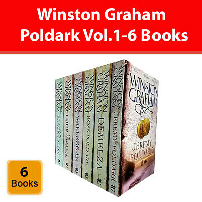 Winston Graham Poldark Series 6 Books Collection Set A Novel of Cornwall Vol.1-6
