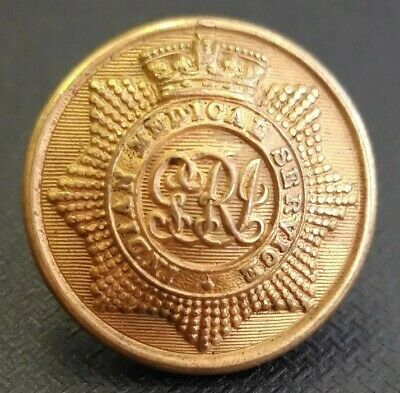 Colonial George VI British Indian Army Medical Service 24.5mm Gilt Button Pitt