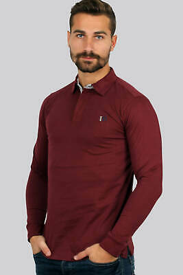 Uvaspina Polo manica lunga in jersey bordeaux Regular fit