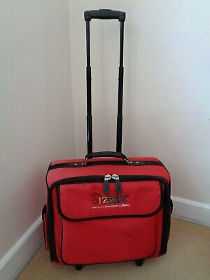 Sizzix Red Craft Wheeled Tote Storage Bag/Case
