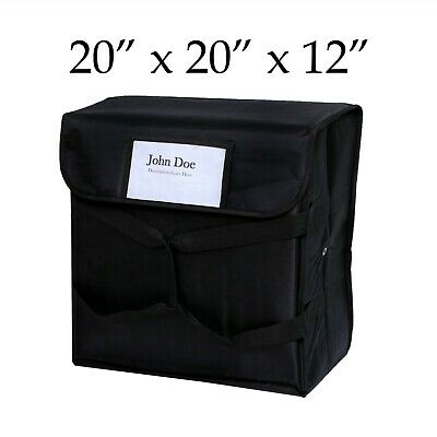 """Pizza Food Delivery Bag Black Thermal Insulated NYLON holds 5 16""""Pizzas Pies"""