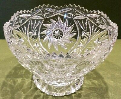 Lead Crystal Cut Glass Bowl 16 cm