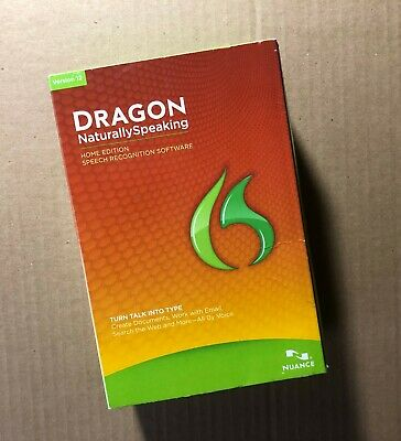 Nuance Dragon NaturallySpeaking Speech Recognition Software (Version 12) *New*